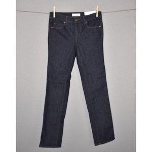 LOFT Dark Wash Modern Straight Denim Jeans NEW